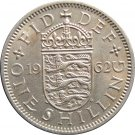 1962 Great Britain One Shilling