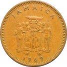 1969 One Penny Jamaica #2