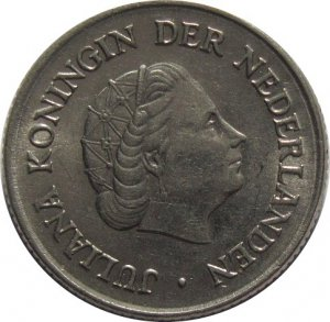 1954 Netherlands 25 Cents