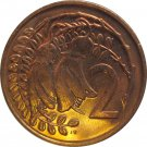 1970 New Zealand 2 Cents Proof Like