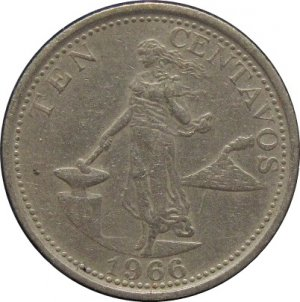 1966 Philippine Ten Centavo