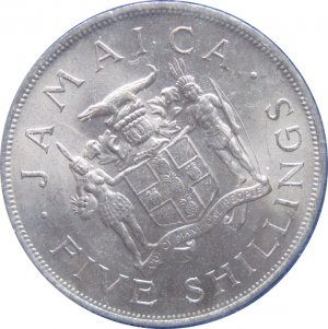 1966 Jamaica 5 Shilling