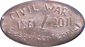 2011 Civil War Sesquicentennial Elongated Cent