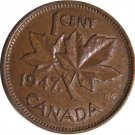 1947 Maple Leaf Canadian Cent