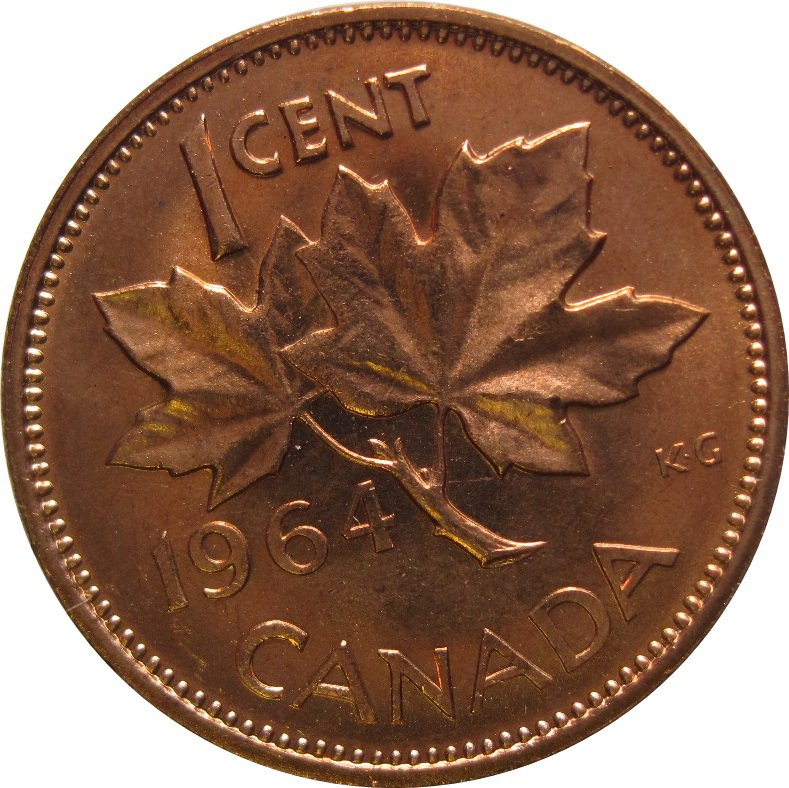1964 Canadian Cent