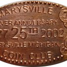 2002 Marysville Michigan Coin Club Elongated Cent