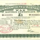 War Savings Certificate: One Pound, 1944 BC400893