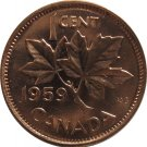 1959 Canadian Cent Double Hanging 9 (2)