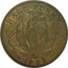 1958 Great Britain Half Penny