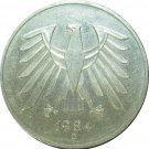 1984 D Germany 5 Duetsche Mark