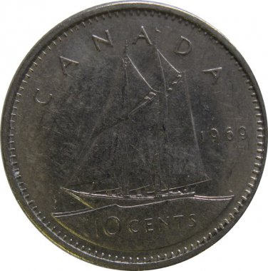 1969 Canadian Dime