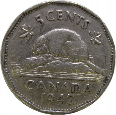 1947 ML Canadian 5 Cent