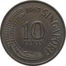 1967 Singapore 10 Cents