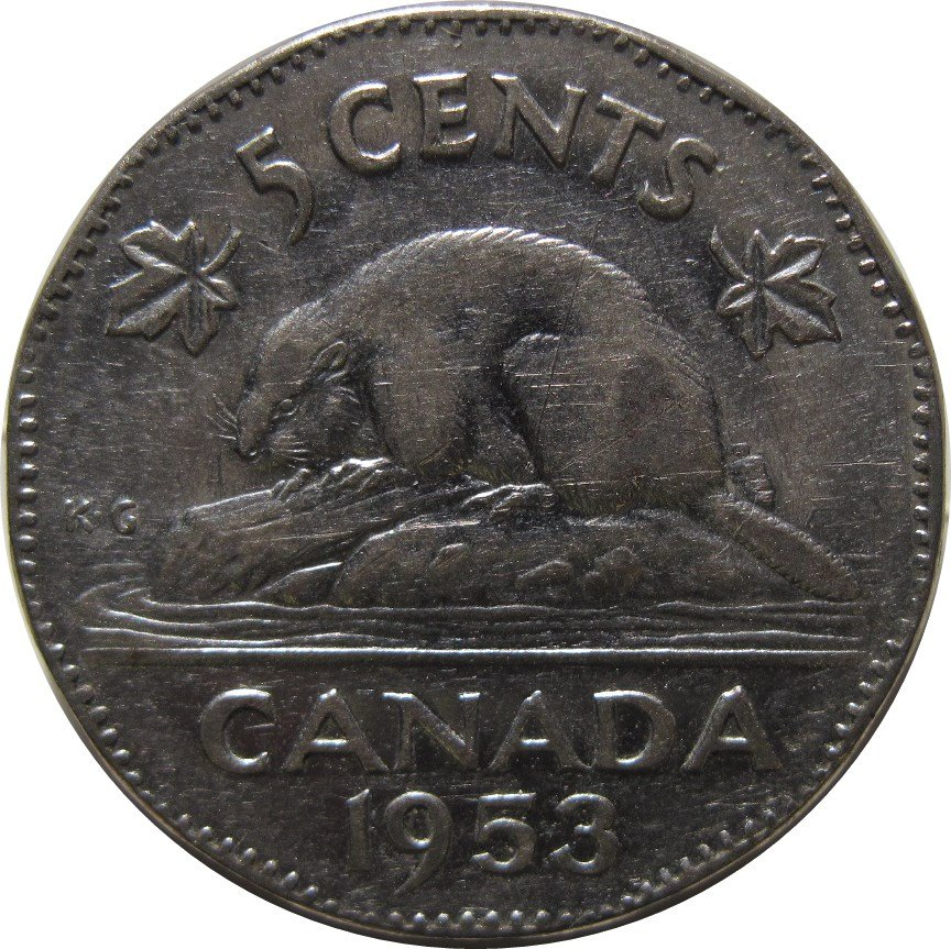 1953 Canadian 5 Cent