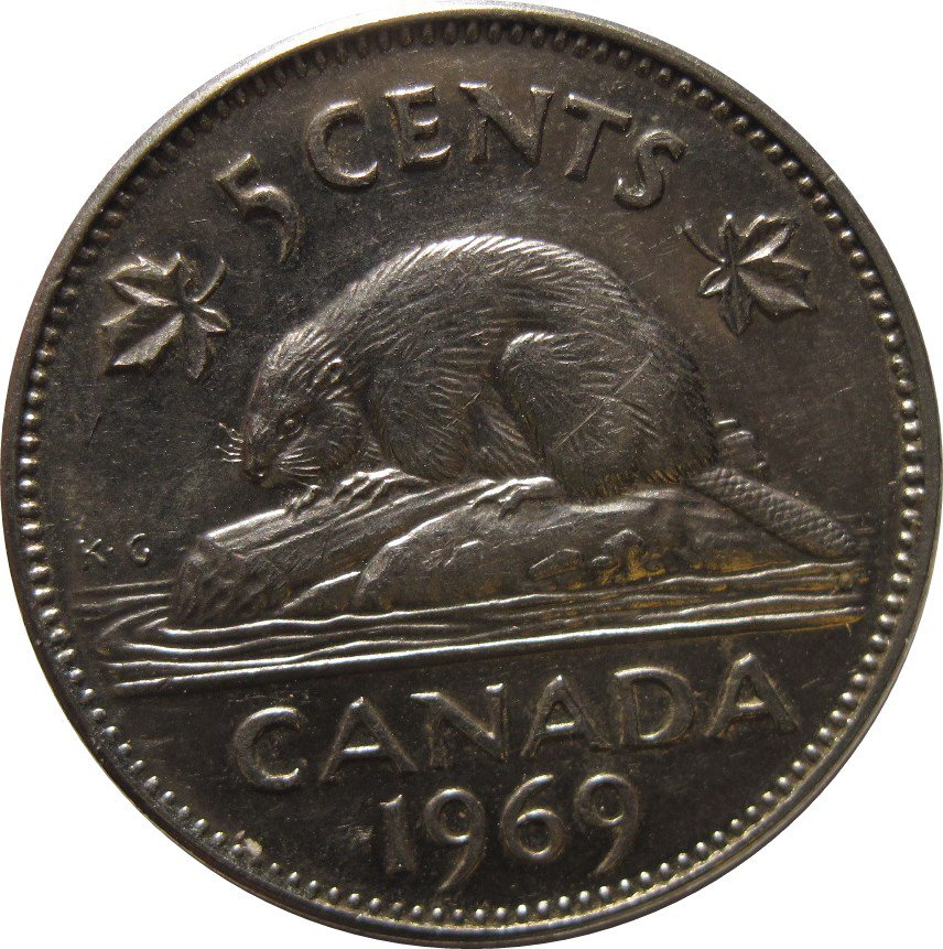1969 Canadian 5 Cent