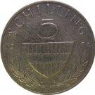 1986 Austria 5 Shilling
