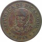 1943 Nicaragua 25 Centavo's