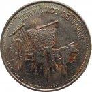1990 Dominican Republic 25 Centavo OXEN