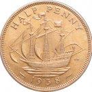 1938 Great Britain Half Penny #2