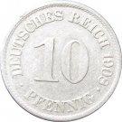 1908 A Germany 10 Pfennig