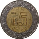 1994 Mexico 5 Peso's