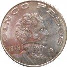1976 Mexico 5 Peso's