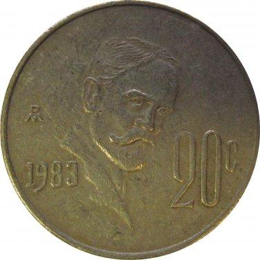 1983 Mexico 20 Centavos