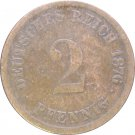 1876 D Germany 2 Pfennig