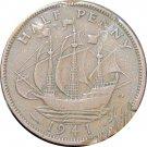 1941 Great Britain Half Penny