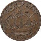1960 Great Britain Half Penny