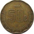 1998 Mexico 50 Centavos