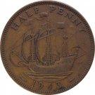 1943 Great Britain Half Penny