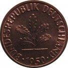 1950 F Germany 1 Pfennig #3