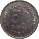 1955 Argentina 50 Centavo