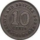 Malaya 1958 10 Cent