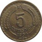 1964 Chile 5 Centesimos  CONDOR