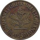 1950 J Germany 10 Pfennig
