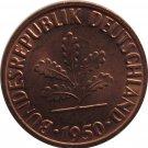 1950 F Germany 1 Pfennig #2