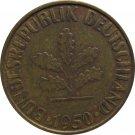 1950 G Germany 10 Pfennig