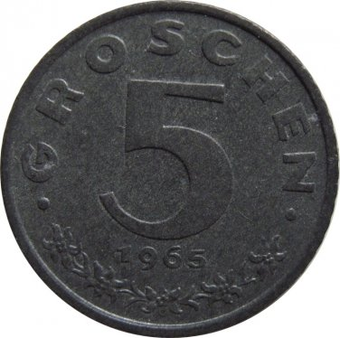 1965 Austria 5 Groschen #2