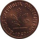 1950 F Germany 1 Pfennig