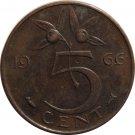 1966 Netherlands 5 Cents