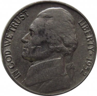 1952 S Jefferson Nickel (Whitman)