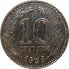 1959 Argentina 10 Centavo