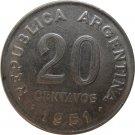 1951 Argentina 20 Centavo
