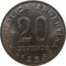 1956 Argentina 20 Centavo