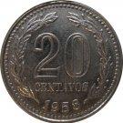 1958 Argentina 20 Centavo