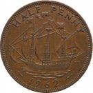 1962 Great Britain Half Penny