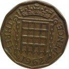 1962 Great Britain 3 Pence