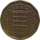 1961 Great Britain 3 Pence